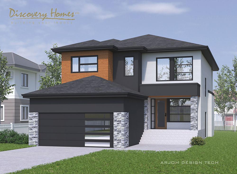 Fairview - Show Home - 3D Model of Exterior - 31 Highpark Drive, Prairie Pointe, Winnipeg