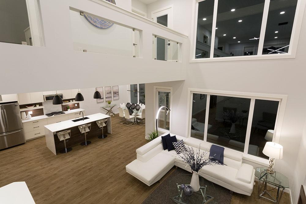 Fairview Great Room Open to Below - 31 Highpark Drive, Prairie Pointe, Winnipeg   Show Home